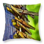 Old Clothes Pins II - Digital Paint Throw Pillow