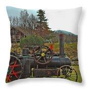 Old Cog Throw Pillow