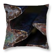 Old Cog Wheels Throw Pillow