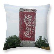 Old Coke Silo Throw Pillow