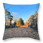 Old Conyers Cemetery Throw Pillow