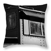 Old Copula Bw Throw Pillow