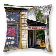 Old Corner Bar - Dayton - Nevada Throw Pillow