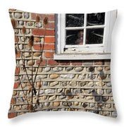 Old Cottage Window Sussex Uk Throw Pillow