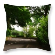 Old Country Road - Peak District - England Throw Pillow