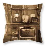 Old Country Stove Throw Pillow