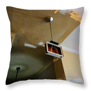 Old Court House In Evanston Wyoming - 3 Throw Pillow
