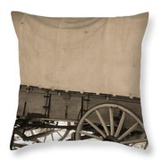Old Covered Wagon Out West Throw Pillow by Dan Sproul