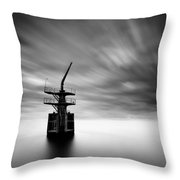 Old Crane Throw Pillow