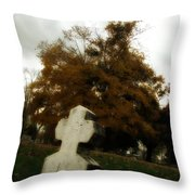 Old Crooked Cross Throw Pillow