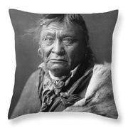 Old Crow Man Circa 1908 Throw Pillow by Aged Pixel