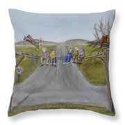 Old Crowknees Fly South Throw Pillow