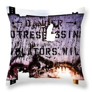 Old Danger Throw Pillow by Bob Orsillo