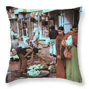Old Delhi 1978 Throw Pillow