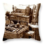 Old Dentistry Throw Pillow