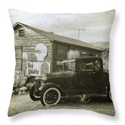 Old Desert Model A Throw Pillow