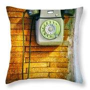 Old Dial Phone Throw Pillow