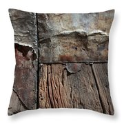 Old Door Textures Throw Pillow