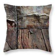 Old Door Textures Throw Pillow