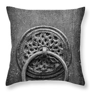 Old Doorknocker Throw Pillow
