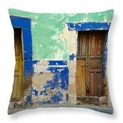 Old Doors, Mexico Throw Pillow