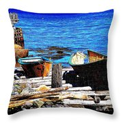 Old  Dory New Punt Throw Pillow