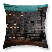 Old Drawers Throw Pillow