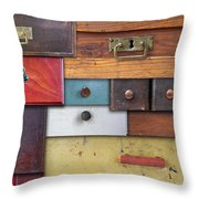 Old Drawers - In Utter Secrecy Throw Pillow