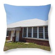 Old Duffau Schoolhouse Throw Pillow by Jason O Watson