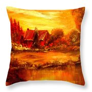Old Dutch Farm Throw Pillow
