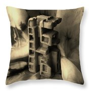 Old Dwellings Throw Pillow by Barbara St Jean