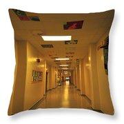 Clare Elementary School Hall Throw Pillow