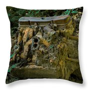 Old Engine Now Rust Throw Pillow