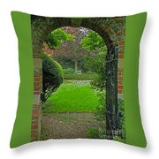 Old English Garden Throw Pillow