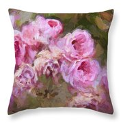 Old English Pink Throw Pillow