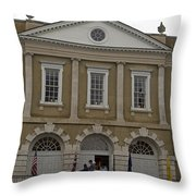 Old Exchange And Customs House Charleston South Carolina Throw Pillow
