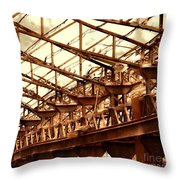 Old Factory In Decay Throw Pillow