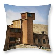 Old Factory Throw Pillow