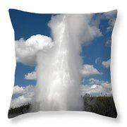 Old Faithful Geyser Throw Pillow