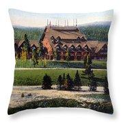 Old Faithful Inn Yellowstone Np 1928 Throw Pillow