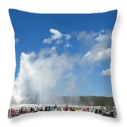 Old Faithful. With Thanks To Lee Throw Pillow