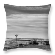 Old Farm - Baseline Road - Waterville - Waterville - Washington - May 2013 Throw Pillow