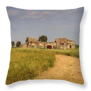 Old Farm - Barn Throw Pillow