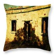 Old Farm Building Throw Pillow