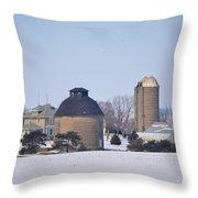 Old Farm Throw Pillow