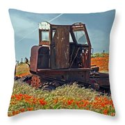Old Farm Equipment Throw Pillow