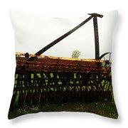 Old Farm Equipment Throw Pillow