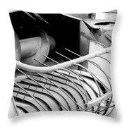 Old Farm Harvester Throw Pillow by Jackie Farnsworth