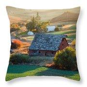 Old Farm In Eastern Washington Throw Pillow