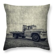 Old Farm Truck Cover Throw Pillow